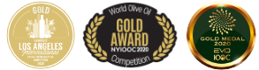 EVOO Gold Medals for Olirium Arbequina & Argudell