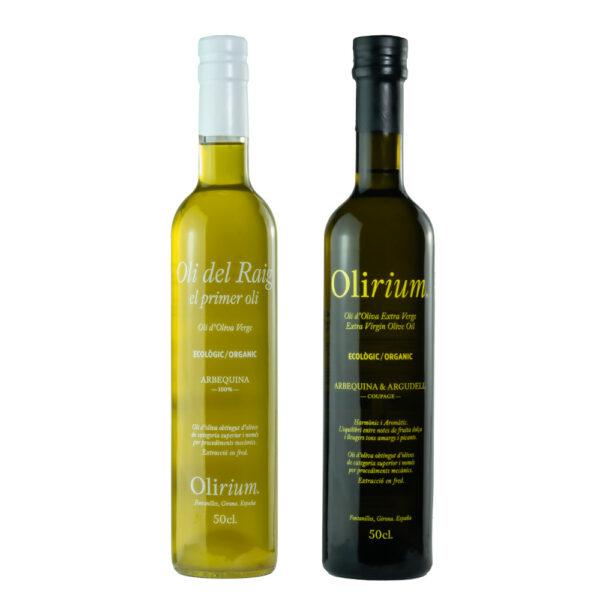 Pack Intrépidos Olirium Aceite de Oliva Virgen Extra Ecológico Oli del Raig + Coupage